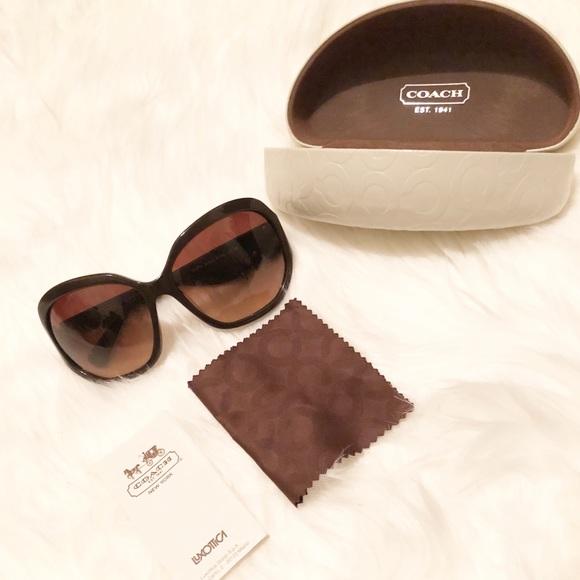 579e287aa7a81 Coach Accessories - Coach Brown Arabella Sunglasses